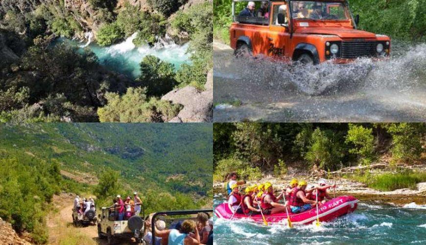 Jeep Safari i kombinacja raftingu