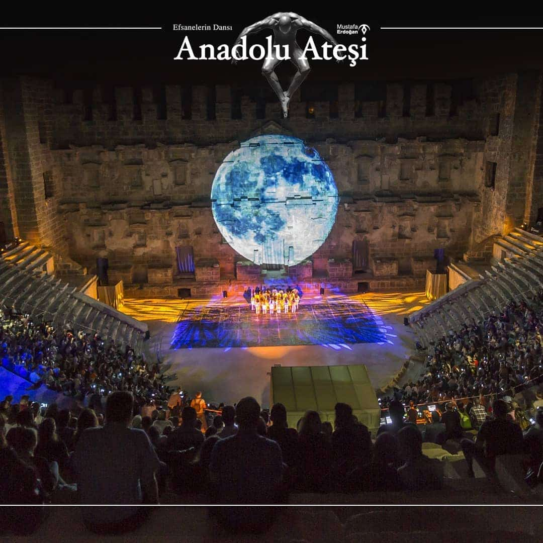 Fire of Anatolia dance show from Alanya